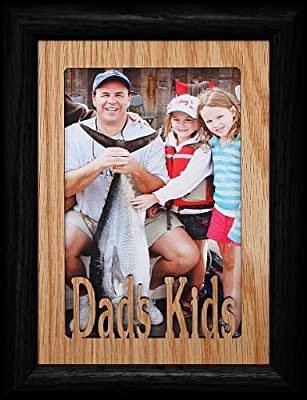 Salmon Fish Wooden Photo Frame 6 x 4 Landscape or Portrait Fishing Gift