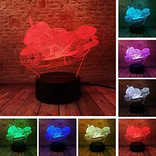 3D nachtlampje LED motorfiets illusie lamp decoratie bedlampje ideaal geschenk voor kinderen jongens en meisjes zoals op verjaardagen of kerstvakanties