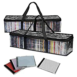 professional Evelots CD Storage Bag-New / Improved-Robust Handle-Set / 2-Total 96 CDs
