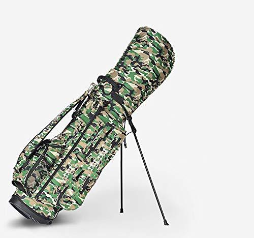 BYBYC wasserdichte Golf Stand Bag Ultra Dry für regnerische Tage auf dem Golfplatz Leichtgewichtler mit Dual-Padded Tragegurt,Camo