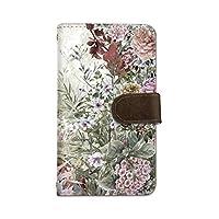 seventwo Pixel 4 XL 4XL スマホケース 手帳型 携帯ケース カードホルダー ピクセル フォー エックスエル 【A.ダークブラウン】 花柄 水彩画 flower_146