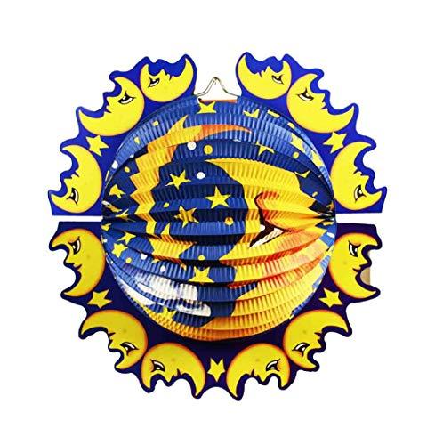 HAAC Lampion Laterne Mond und Stern 33 cm für Feste Laternenumzug