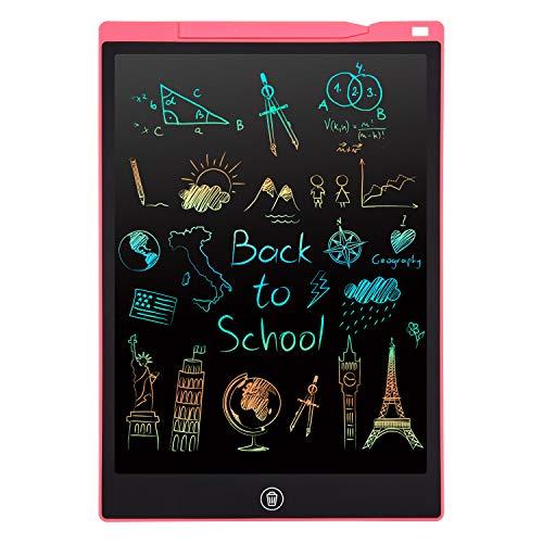 Tavoletta Grafica LCD Scrittura, 12 Pollici Lavagna da Disegno Digitale Portatile PINKCAT Ewriter Cancellabile Disegno Pad Writing Tablet per Bambini Adulti della Casa Scuola Ufficio