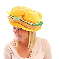 Image: US Toy One Plush Fabric Hamburger Hat | Hamburgers that look good enough to eat | These fun food hats are always a crowd-pleasing favorite