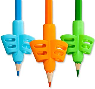 Pencil Grips,ANERZA Pencil Grips for Kids Handwriting,Writing Aid Grip for Preschoolers,Silicone Ergonomic Writing Tool for School Supplies,Children,Adults or Special Needs Lefty or Righty (3pcs)