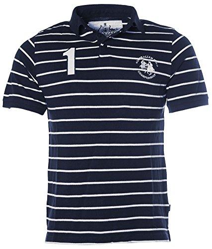 Signum Herren Pikee Poloshirt Polo T-Shirt Navy S