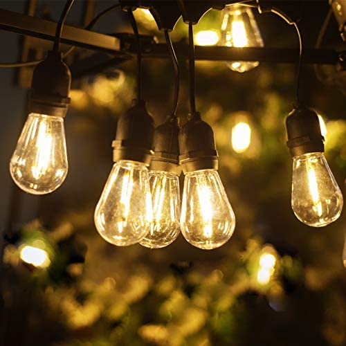 LUKASUMI LED Outdoor String Lights 52 Ft Patio Lights Hanging for Garden Backyard Porch Lighting product image