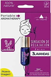 Roll On 3LAVANDAS 3ml- Aceite Esencial de Lavanda - Aromaterapia Portable
