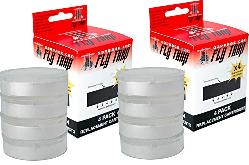 Price comparison product image Garbage Can Fly Trap Cartridge Refill Multi Pack (8 Count)