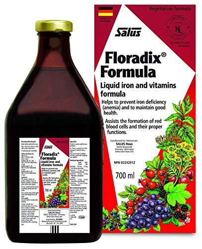Salus Floradix Formula Natural Liquid Iron Supplement | Kosher, Non-GMO & Vegetarian | Fight Against Iron Deficiency (700ml)