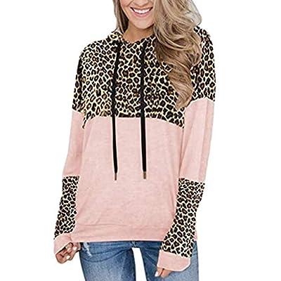 Amazon - Save 80%: PLENTOP Women's Hoodie Pullover Sweatshirts, Casual Leopard-Print Knit Hoodi…