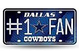 NFL #1 Fan US-Kennzeichen Metall-Schild Dallas Cowboys -
