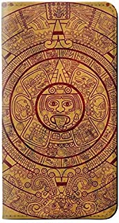 RW0692 Mayan Calendar PU Leather Flip Case Cover for Samsung Galaxy J7 (2018), J7 Aero, J7 Top, J7 Aura, J7 Crown, J7 Refine, J7 Eon, J7 V 2nd Gen, J7 Star