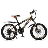 GONGFF Kids Bike 20 pollici, ad alta acciaio al carbonio della bicicletta I bambini con parafango, adatto a ragazzi e ragazze di età compresa 7-14 bicicletta,B