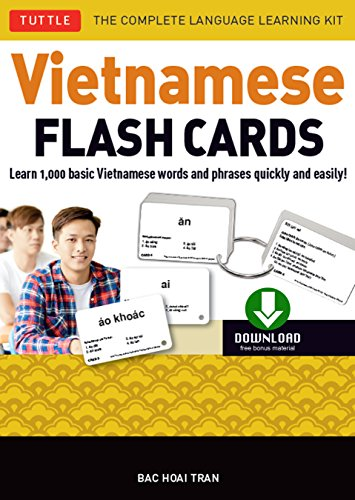 Vietnamese Flash Cards Ebook: The Complete Language Learning Kit (200 digital flash cards, 32-page Study Guide, free download or stream native-speaker audio recordings) (English Edition)