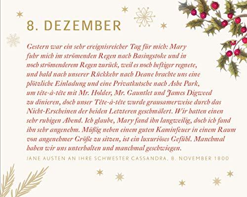 Warten auf Weihnachten mit Jane Austen Adventskalender