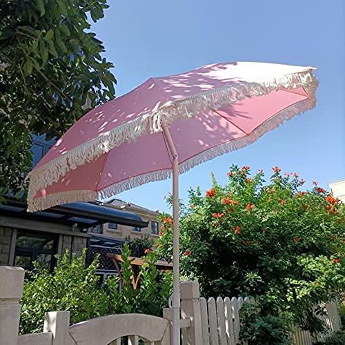 Sombrillas De Jardín, Playa Al Aire Libre, Mecanismo De Inclinación, Base Triangular De Hierro, Estilo Hawaiano, Accesorios De Simulación