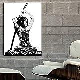 WUCHONGSHUAI Leinwanddruck,Moderne Samurai Mädchen