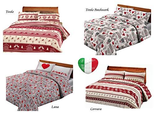 SpazioTessile Telo Arredo Copritutto Copridivano Copriletto Grandfoulard 100% Cotone Tirolo Lana Corvara (Tirolo, 2 Piazze 250x290)