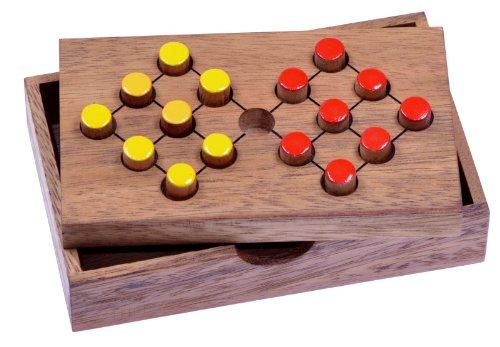 LOGOPLAY Tausche Acht - Halma - Denkspiel - Knobelspiel - Geduldspiel - Logikspiel - Brettspiel aus Holz