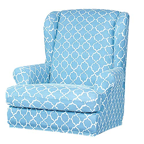 LOVIVER Abnehmbar Sesselbezug Sessel-Überwürfe Ohrensessel Überzug Bezug weich Sofaüberwurf Möbelschutz Sofaüberzug Couchbezug - Blau
