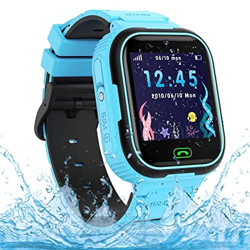 Reloj Inteligente para niño, Impermeable Smartwatch Niños LBS Localizado, Kids Smartwatch Phone con Call SOS Cámara para...