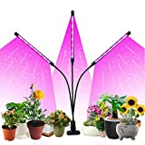 Likesuns Led Grow Light for Indoor Plants, 3 Head 60 LED 10 Dimmable