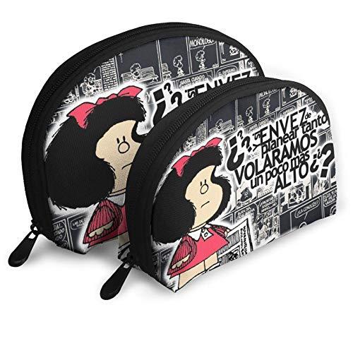 XCNGG Sac de rangement Mafalda Trousse de toilette portable Trousse de maquillage Trousse de rangement Trousse cosmétique Carry On Travel Sac étanche Multifonction Sacs de voyage portables avec fermet
