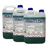 QUALITY-PLUS3 DESENGRASANTE HIGIENIZANTE SUPER-CONCENTRADO Energetico. Especial para COCINAS Y SUELOS MUY SUCIOS - MOTORES - Aroma Mentolado 3x5kgrs