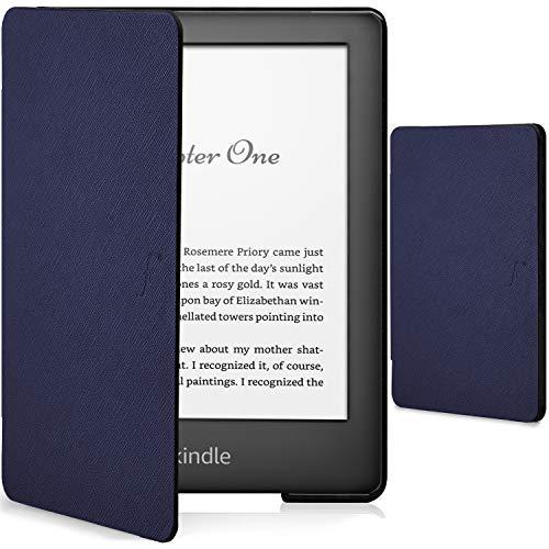 Forefront Cases Smart Cover per Kindle 2019 - Custodia Protettiva Magnetica per Amazon Kindle 2019 Modello (10ª generazione) - Smart Auto Svegliati Sonno Funzione Sottile Elegante Leggera - Blu Marino