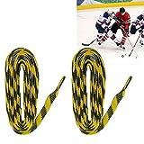 OIUYT 1 par 72 84 96 Pulgadas Hockey sobre Hielo Zapatos Cordones de los Cordones de Rodillos Patines Botas Skates Cordones (Color : 84 Inch)