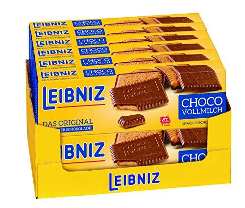 LEIBNIZ Choco Vollmilch Keks - 12er Pack - Vorratsbox - Butterkeks mit Vollmilchschokolade überzogen - Knackfrisch (12 x 125 g)