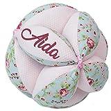 Borda y más Pelota Montessori Personalizada de Tela para bebé (Edén)