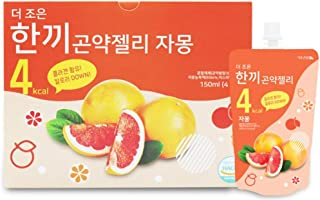 One Meal 4 Kcal Grapefruit Flavor Konjac Jelly Fish Collagen Diet Food Weight Loss Vitamin C (1 Box 10 Packs)