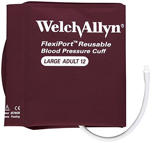 Welch Allyn FlexiPort Blood Pressure Cuff; Size-12 Large Adult, Reusable, 1-Tube, Male Screw (#5082-164) Connector; range 32-43 cm