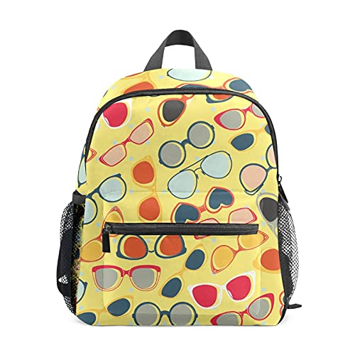 Gafas de sol amarillo mochila para niña niño mini viaje mochila primaria preescolar estudiante Bookbag pequeña escuela