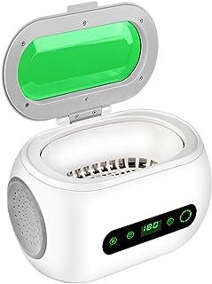 UFLIZOGH Limpiador Ultrasonidos Profesional de Gafas Relojes 600ml Limpiador Ultrasonidos del Hogar con Temporizador para CDs Dentaduras Acero Inoxidable Maquina de Ultrasonido con Cesta de Limpieza