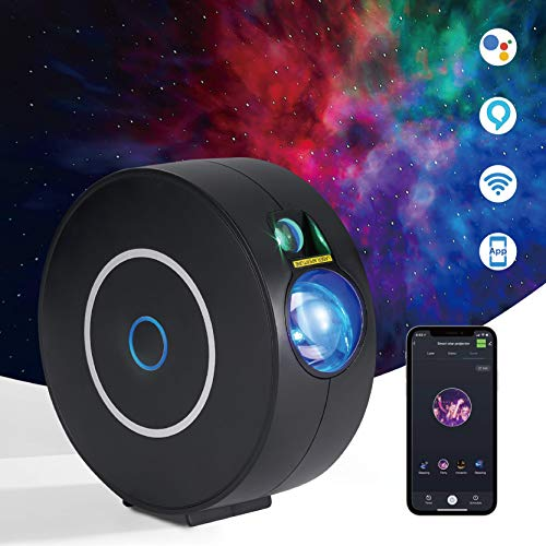Star Galaxy Projector Control by Phone APP Compatible with Alexa and Google Home,Led Sky Light Laser Galaxy Projector with Rotatable Nebula Clouds and Stars for Bedroom and Party Decoration,Kids Gift