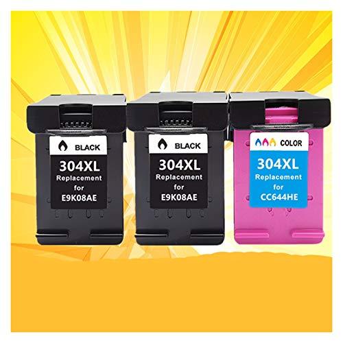 CMDZSW 304 304xl HP304 Tinta Cartucho es Adecuado para HP DeskJet Envy 2620 2630 2632 5030 5020 5032 3720 3730 5010 Impresora (Color : 2BK 1C)