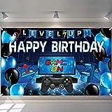 Blue Video Game Backdrop Blue Ga...