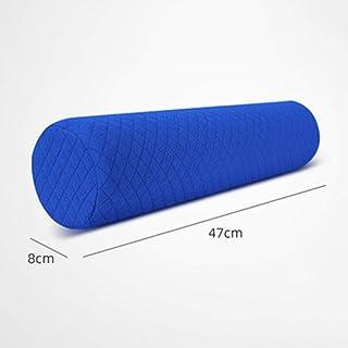 Comfortable Pillow Memoria Almohada Almohada cilíndrica for Proteger la Columna Cervical Almohada (Single Pack) (Color : Azul)