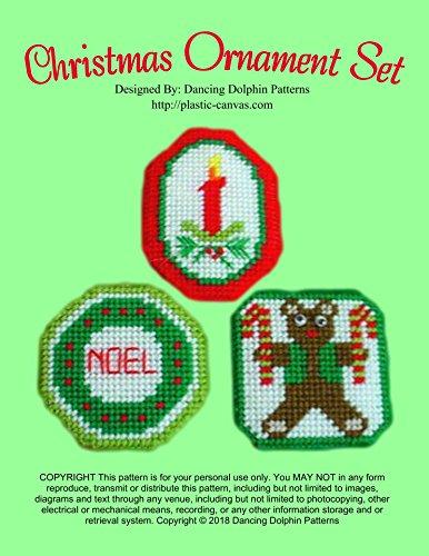 Christmas Ornament Set: Plastic Canvas Pattern