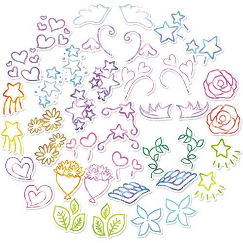 WYZNB dibujos animados fresco y hermoso alas pegatinas papelería taza agua botella de agua teléfono móvil caso cuaderno monopatín impermeable decoración creativa mini mano cuenta pegatinas 40 hojas