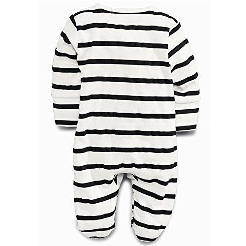 Body Vest Env Neck Twins Unisex Baby White&Black Cotton Long Sleeved Bodysuit 2-Pack 0-3 3-6 6-9 Months