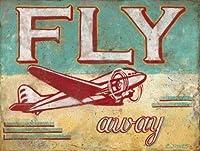 なまけ者雑貨屋 Fly Away アメリカン 雑貨 ヴィンテージ風 ライセンスプレート メタルプレート ブリキ 看板 アンティーク レトロ