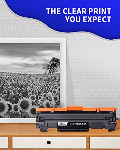 GPC Image 44A CF244A Cartuchos de tóner Compatible para HP CF244A 44A con Chip para HP Laserjet Pro M15a M15w MFP M28a MFP M28w Impresora (1 Negro)
