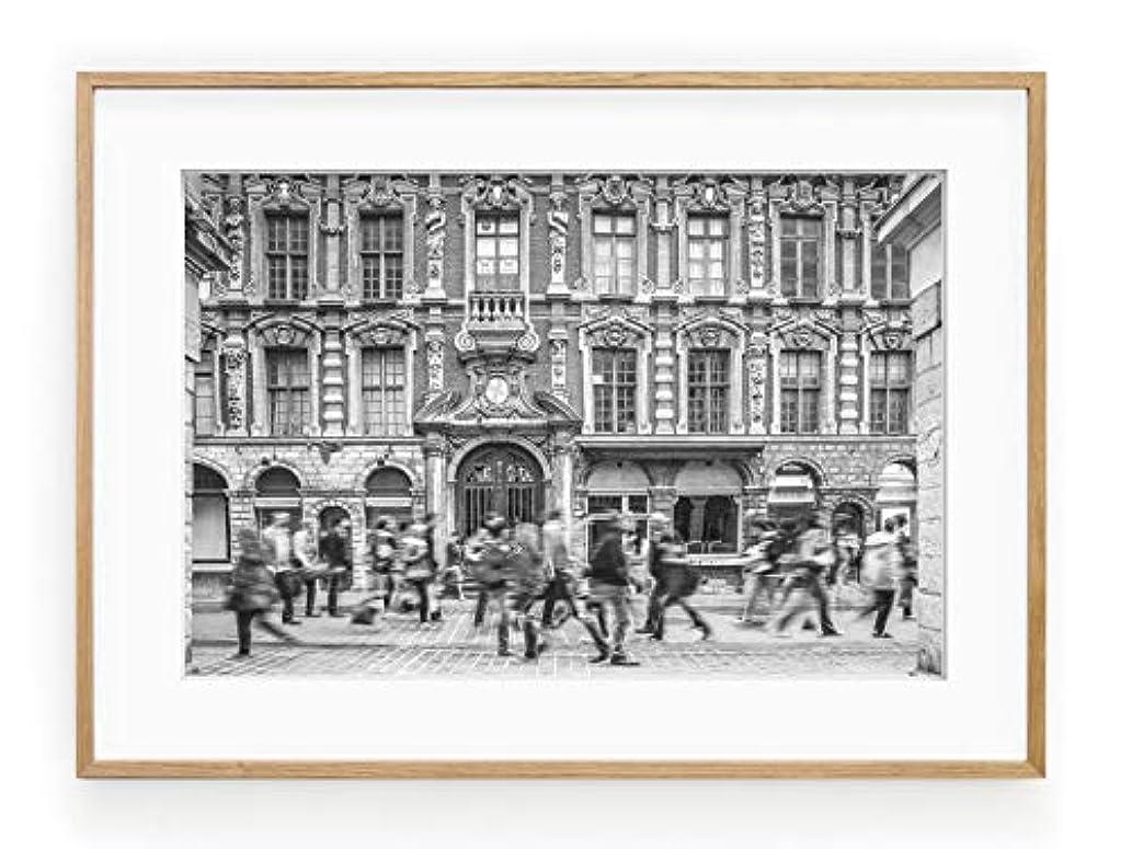 Urban Movement, Satin Black Aluminium Frame, with Mount, Multicolored, 50x70