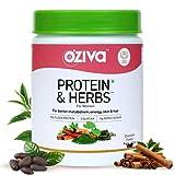 OZiva Protein & Herbs, Women with Multivitamins, Curcumin, Shatavari, Tulsi for Improved Metabolism, Hormonal Balance & Skin, Hair Health, 1.1 lbs (Chocolate, 16 Servings) (Small, 16 Servings)