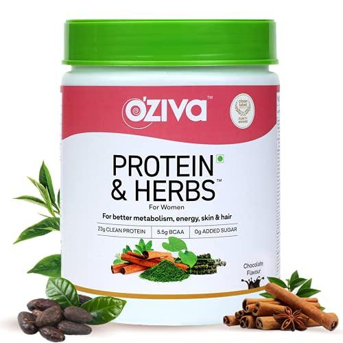 OZiva Protein & Herbs, Women, (Natural Protein Powder with Ayurvedic Herbs & Multivitamins for...