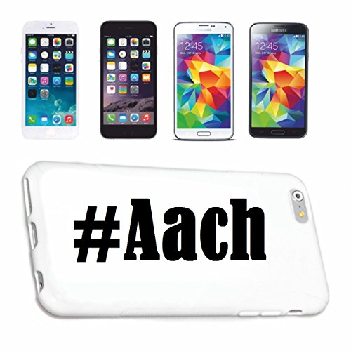 Reifen-Markt Handyhülle kompatibel für iPhone 6 Hashtag #Aach im Social Network Design Hardcase Schutzhülle Handy Cover Smart Cover